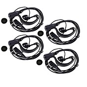 High Quality Professional 3.5mm +2.5mm Earphone with Clip for Most of Walkie Talkies (4PCS/145cm)