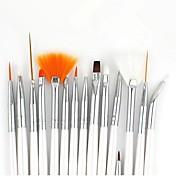 Kits de cepillo de pintura del arte del clavo 15pcs