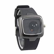 남성 스포츠 시계 독특한 창조적 인 시계 방수 석영 일본 쿼츠 실리콘 밴드 블랙