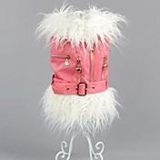 개 코트 블랙 / 핑크 / 베이지 강아지 의류 겨울 솔리드