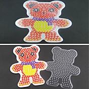 1pcs plantilla claras cuentas de fusibles Pegboard del patrón del oso de la bufanda de Hama Beads 5mm rompecabezas bricolaje