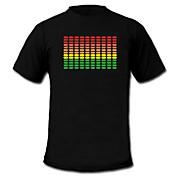 el sonido y la música vu espectro metros activa el visualizador LED T-shirt (2 * aaa)