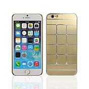 teléfono de nuevo cubierta de metal angibabe patrón cuadrado para el iphone 6 caso de 4,7 pulgadas