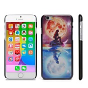 elegante de plástico duro con dibujos complemento en caso de iPhone 6 Plus