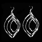 Earring Drop Earrings Jewelry Women Party Silver / Sterling Silver Silver