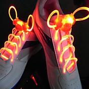 긴 밝은 플래시 느린 플래시 방수 LED 신발 끈 빨강 (1 쌍)