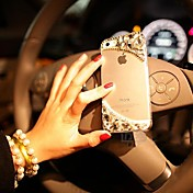 5.5 Inch Three-dimensional  with Diamond Hard Back Cover  for iPhone 6 Plus
