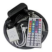 led 스트립 조명 키트 3528 5m 300leds rgb 60leds / m 44key ir 컨트롤러 및 3a 전원 공급 장치 ac100-240v