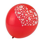 tamaño extra grande de corazón gruesa globos redondos rojos rotos - conjunto de 24