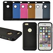용 아이폰6케이스 / 아이폰6플러스 케이스 패턴 케이스 뒷면 커버 케이스 단색 소프트 실리콘 iPhone 6s Plus/6 Plus / iPhone 6s/6