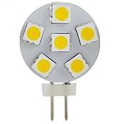 G4 2w 6x5050smd 200lm 2800-3200k 따뜻한 하얀 빛이 자리 전구를 주도 (DC12V)