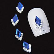 10pcs   Blue Marquise 3D Rhinestone DIY Alloy Accessories Nail Art Decoration