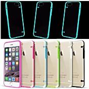 용 아이폰6케이스 / 아이폰6플러스 케이스 야광 / LED플레쉬 조명 / 투명 케이스 뒷면 커버 케이스 단색 소프트 TPU iPhone 6s Plus/6 Plus / iPhone 6s/6