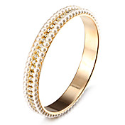 패션 깜짝 모조 다이아몬드 진주 황금 합금 팔찌 (1 개)