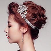 Mujer Diamantes Sintéticos / Cristal / Aleación Celada-Boda / Ocasión especial / Al Aire Libre Tiaras / Coronas