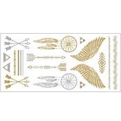 1pc 금은 금속 목걸이 팔찌 귀영 나팔 스티커