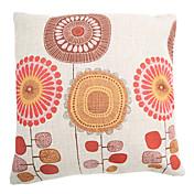 Algodón/Lino Cobertor de Cojín / Cojín con Relleno , Floral Campestre