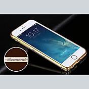 4.7 인치 아이폰을위한 맞춤 새겨진 절묘한 금 끈으로 묶인 금속 범퍼 프레임 쉘 (6) (골드, 실버, 블랙, 핑크)