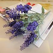 분기 실크 플라스틱 라이트 블루 테이블  플라워 인공 꽃