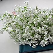 bebé de seda blanca aliento ramo 6 pedazos / porción para el diseño floral y decoración de la boda