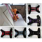 고양이 / 개 하니스 / 강아지용 자동차 시트 하네스 /강아지 안전 하네스 방수 레드 / 블랙 / 블루 / 핑크 / 퍼플 나일론