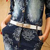 Mujer PU Cinturón Slim Vintage / Bonito / Fiesta / Trabajo / Casual Todas las Temporadas