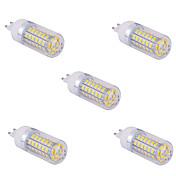 5 개 G9 (15) 60w X SMD 5730 1500 LM 2800-3200 / 6000-6500 K 따뜻한 화이트 / 차가운 백색 옥수수 전구 AC 110/220 V