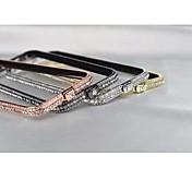 Marco Antigolpes - Metálica// Decorado caja del Rhinestone Diamond - para iPhone 6 Plus (Colores Surtidos , Metal)