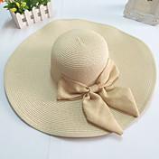 여성 넓은 모자 챙을 활 밀짚 플로피 모자