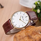 yoonheel Mujer Reloj de Moda Reloj Casual Cuarzo Piel Banda Negro Blanco Marrón Blanco Negro Marrón