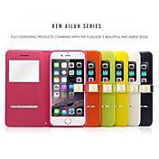ailun® tapa flip vista de la ventana de cuero caso magnético segundo ultra delgado con soporte para el iphone 6 más (colores surtidos)