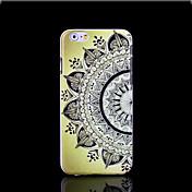 아이폰 6를 더한 경우에 대한 아즈텍 만다라 꽃 패턴 커버