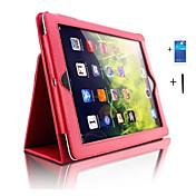 제품 케이스 커버 스탠드 자동 슬립 / 웨이크 기능 풀 바디 케이스 한 색상 인조 가죽 용 iPad 4/3/2