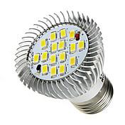 7W E26/E27 LED 스팟 조명 16 SMD 5630 520-550 lm 차가운 화이트 AC 85-265 V 1개