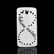 용 삼성 갤럭시 케이스 패턴 케이스 뒷면 커버 케이스 단어 / 문구 PC Samsung Grand 2