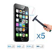 "5PCS 애플 아이폰 6S에 대한 뜨거운 판매 화면 보호 강화 유리 보호 필름 플러스 / 6 플러스 5.5 """