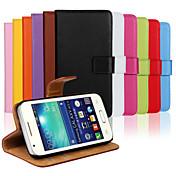 용 삼성 갤럭시 케이스 카드 홀더 / 스탠드 / 플립 케이스 풀 바디 케이스 단색 인조 가죽 Samsung Ace 4