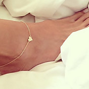 Fashion Summer Beach Simple Love Heart Anklet