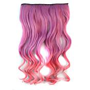 extensiones de cabello grueso sintéticos mezclar la onda del cuerpo de color clip-en el pelo