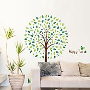 벽 스티커 벽 데칼 스타일 행복 나무 PVC 벽 스티커