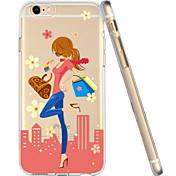 용 아이폰6케이스 투명 / 패턴 케이스 뒷면 커버 케이스 섹시 레이디 소프트 TPU iPhone 6s/6