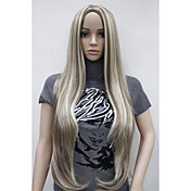 Mujer Pelucas sintéticas Sin Tapa Muy largo Liso Las pelucas del traje
