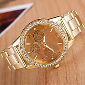 아가씨들 패션 시계 석영 합금 밴드 스파클 실버 골드 로즈 골드