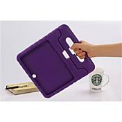용 삼성 갤럭시 케이스 충격방지 / 스탠드 / 아이 안전 케이스 풀 바디 케이스 단색 실리콘 Samsung Tab 4 10.1 / Tab 3 10.1 / Tab S 10.5 / Tab A 9.7