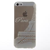 용 아이폰5케이스 투명 케이스 뒷면 커버 케이스 에펠탑 소프트 TPU iPhone SE/5s/5