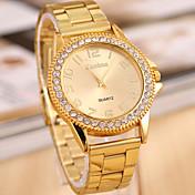 Mujer Reloj de Moda Cuarzo Aleación Banda Dorado Dorado
