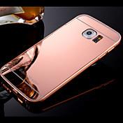 용 삼성 갤럭시 케이스 케이스 커버 도금 거울 뒷면 커버 케이스 단색 하드 PC 용 Samsung S8 S8 Plus S7 edge S7 S6 edge plus S6 edge S6 S5 S4