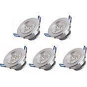 3W Luces Empotradas Descendentes 3 LED de Alta Potencia 350 lm Blanco Cálido / Blanco Fresco AC 100-240 V 5 piezas