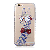 Para Funda iPhone 6 / Funda iPhone 6 Plus Transparente / Diseños Funda Cubierta Trasera Funda Animal Suave TPUiPhone 6s Plus/6 Plus /