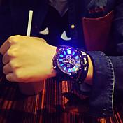 남성 손목 시계 독특한 창조적 인 시계 LED 석영 실리콘 밴드